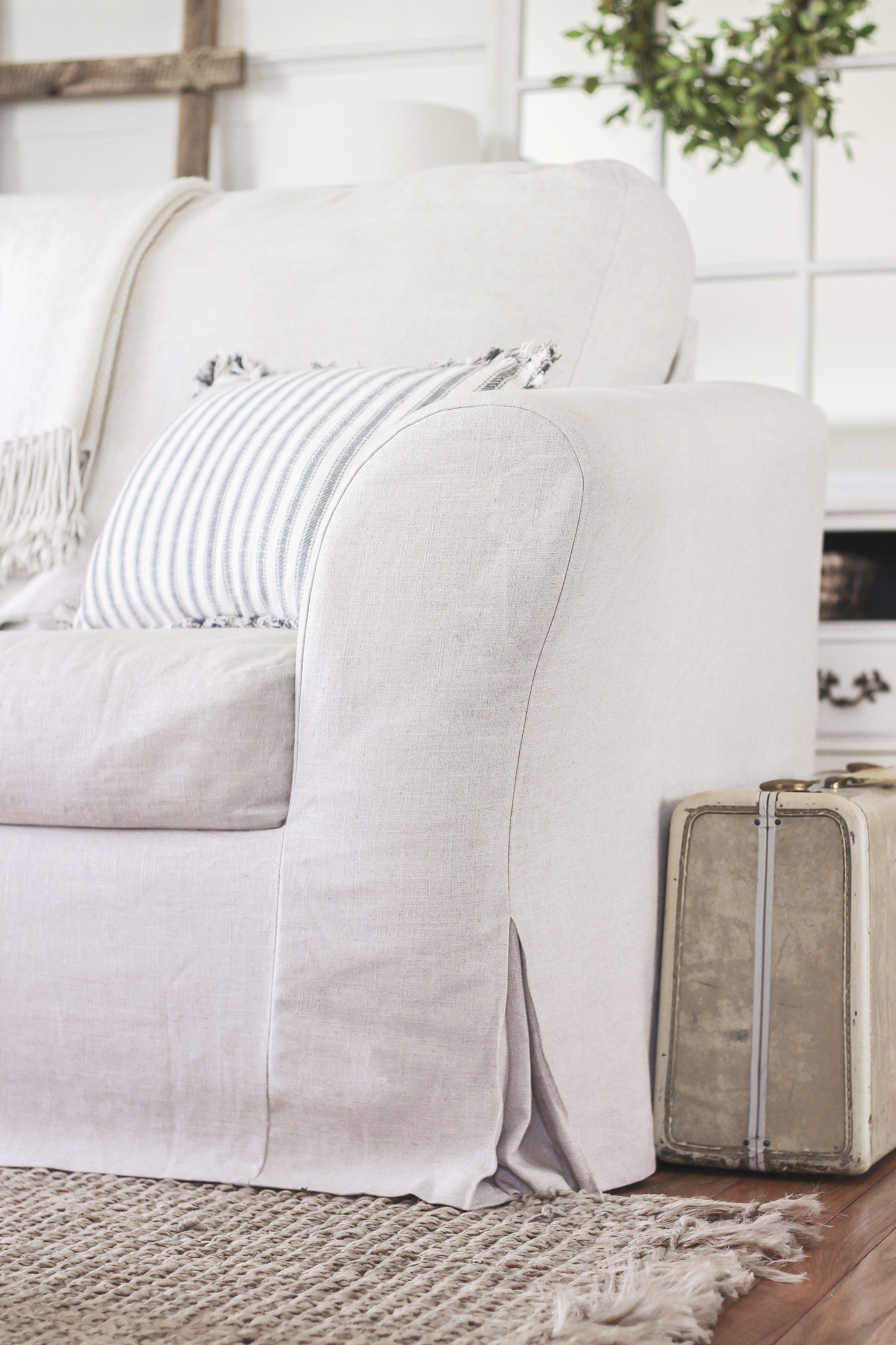 White Canvas Sofa Covers Con Imágenes