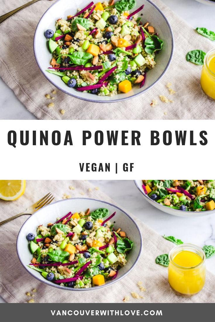 Quinoa Power Bowls Vegan Gluten Free Vancouver With Love Recipe Quinoa Recipes Easy Vegan Dinner Recipes Easy Quinoa Healthy