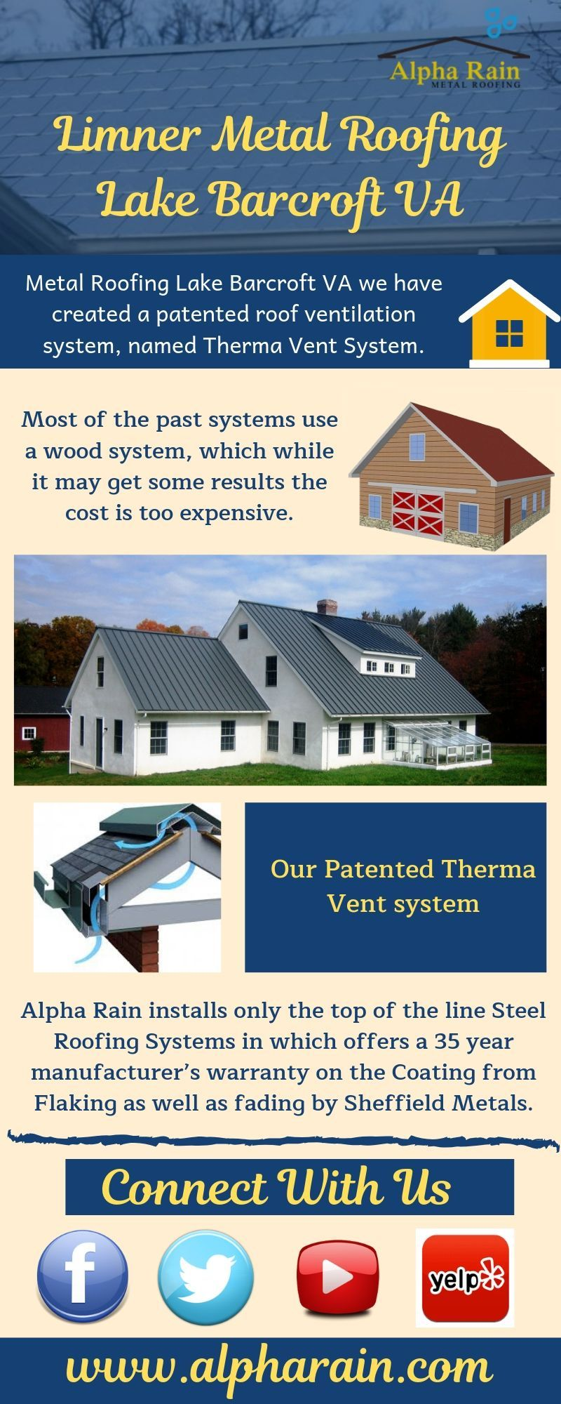 Metal Roofing Lake Barcroft Va By Alpha Rain Contractors Roofing Metal Roof Ventilation System