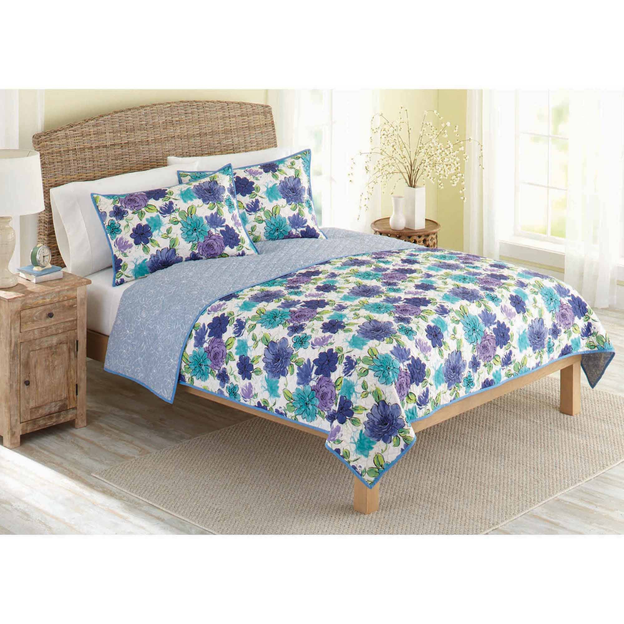 Better Homes And Gardens Quilt Collection, Watercolor Floral Price