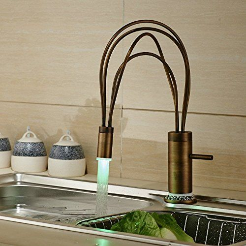Votamuta LED Colors Changing Single Handle Swivel Kitchen Vessel ...