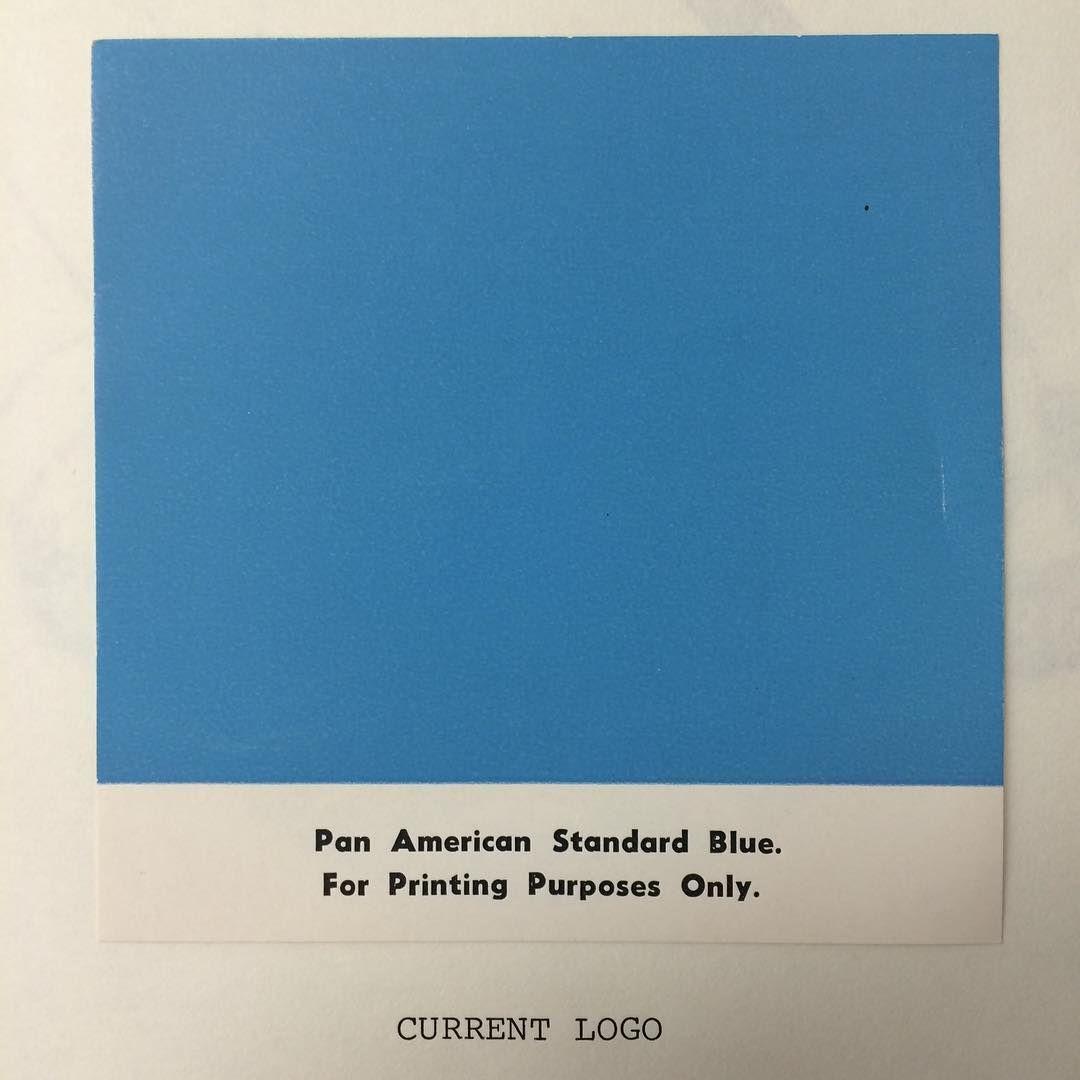 PANTONE Pan American Standard Blue (1950s)   Jet life   Pinterest