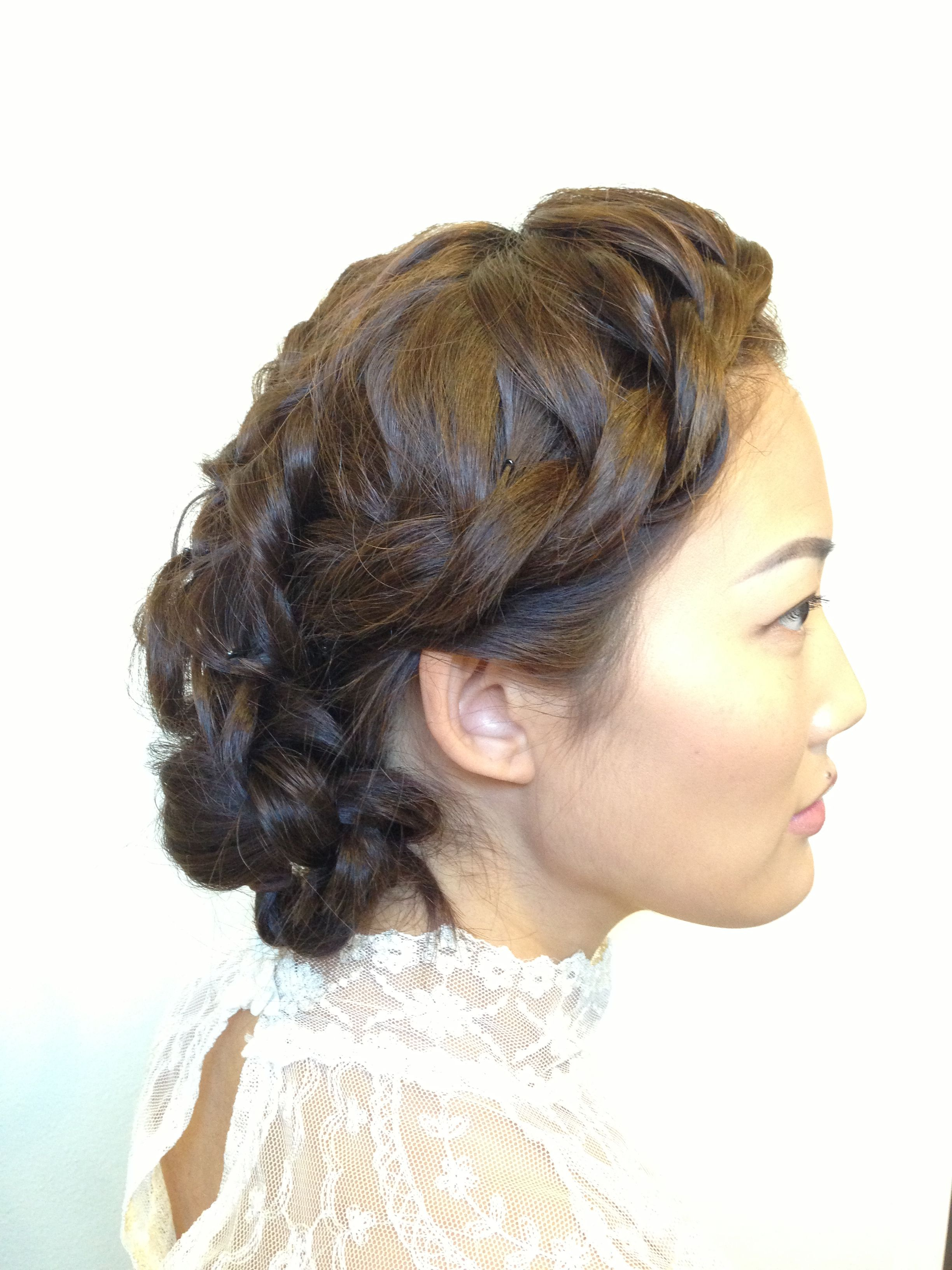 Wedding Updo Chignon Braids Wedding Hair Romantic Updo