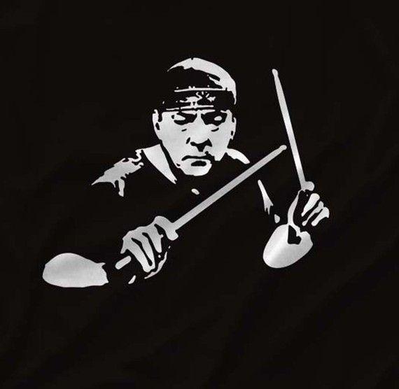 Neil Peart ~ RUSH in Black & White #drummers #rush http://www.pinterest.com/TheHitman14/musician-drummers-%2B/