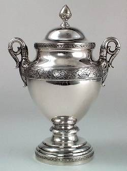 Sugar bowl to the The Magarge Family 6 Piece Tea and Coffee Service, Philadelphia, c. 1815-20, by Thomas Fletcher & Sidney Gardiner