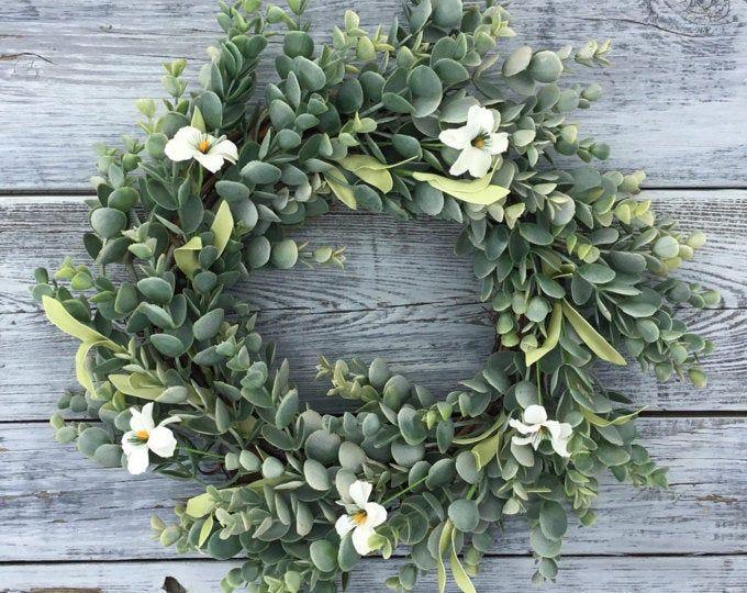 Photo of I'm new! Dusty Eucalyptus Berry Wreath | Valentines Day Wreath | Mothers Day Wreath | Easter Decor | Farmhouse Eucalyptus Wreath