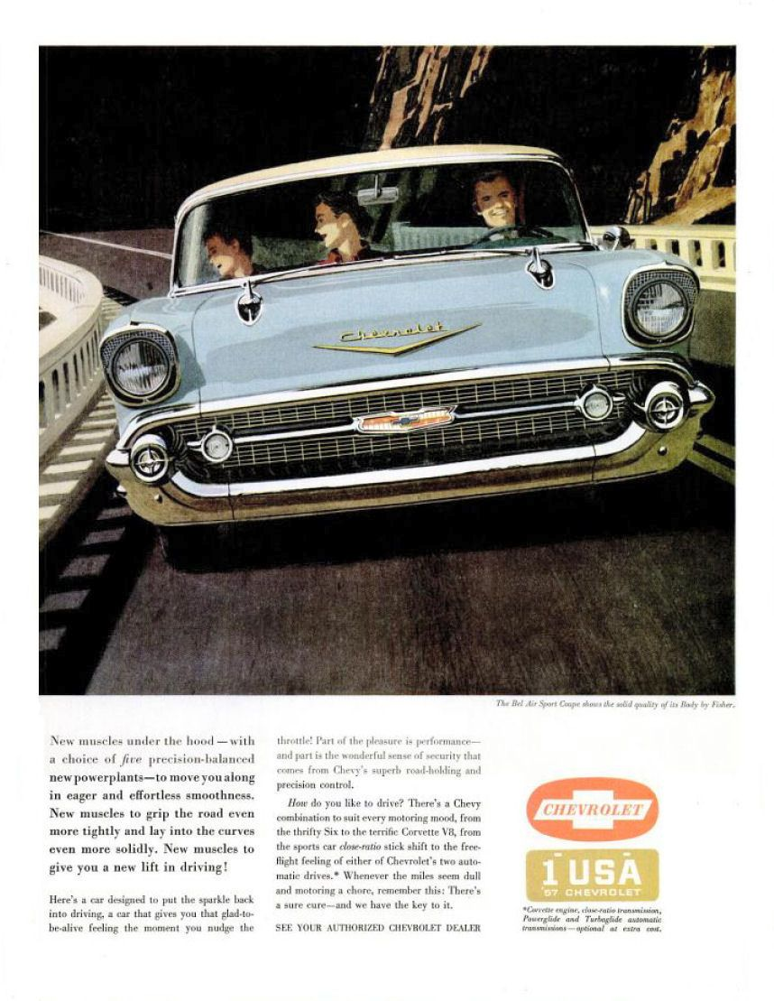 1957 Chevrolet Automobile advertising, Cool car pictures