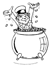 Image Result For Pot Of Gold Clipart Black And White Free St Patricks Day Clipart Coloring Pages For Kids Coloring Pages