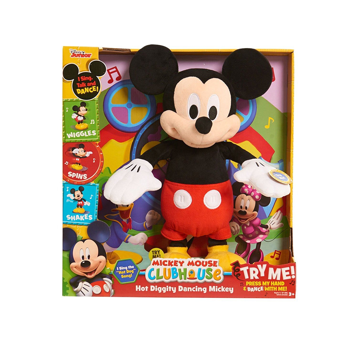 Dancing Mickey Plush Disney Just Play Hot Diggity Clubhouse Kids