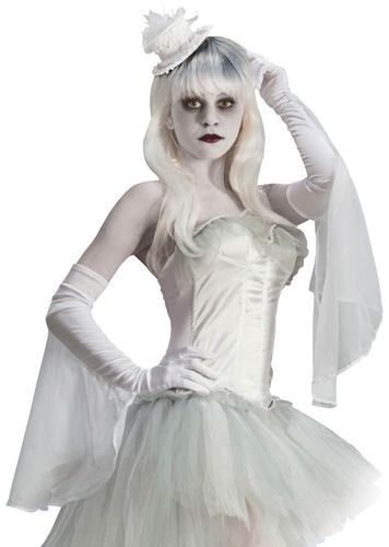 Ghostly Spirits Long Gloves Ghost Costumes #halloween #spirit - halloween ghost costume ideas