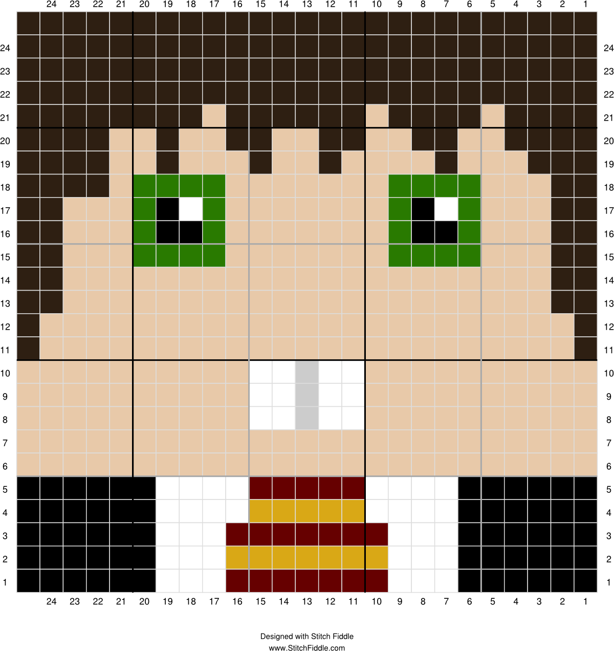 Neville | Stitch Fiddle | Crochet x fer | Pinterest | Mantas de ...