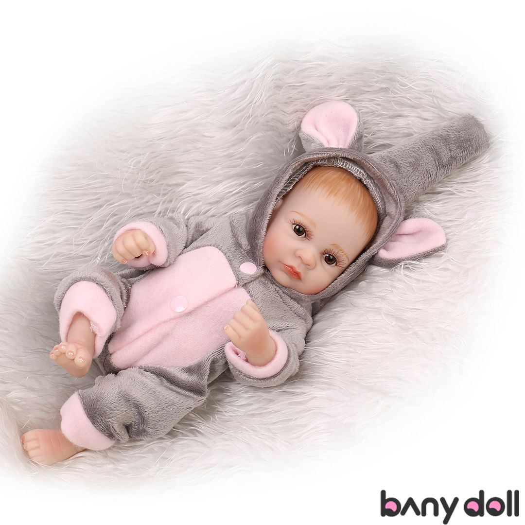 10/'/' Reborn Doll Mini Girl Lifelike Handmade Baby Realistic Vinyl Silicone Bath