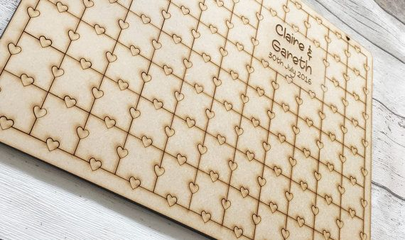 Wedding Jigsaw Puzzle Guestbook Heart Jigsaw by PerfectParcels1