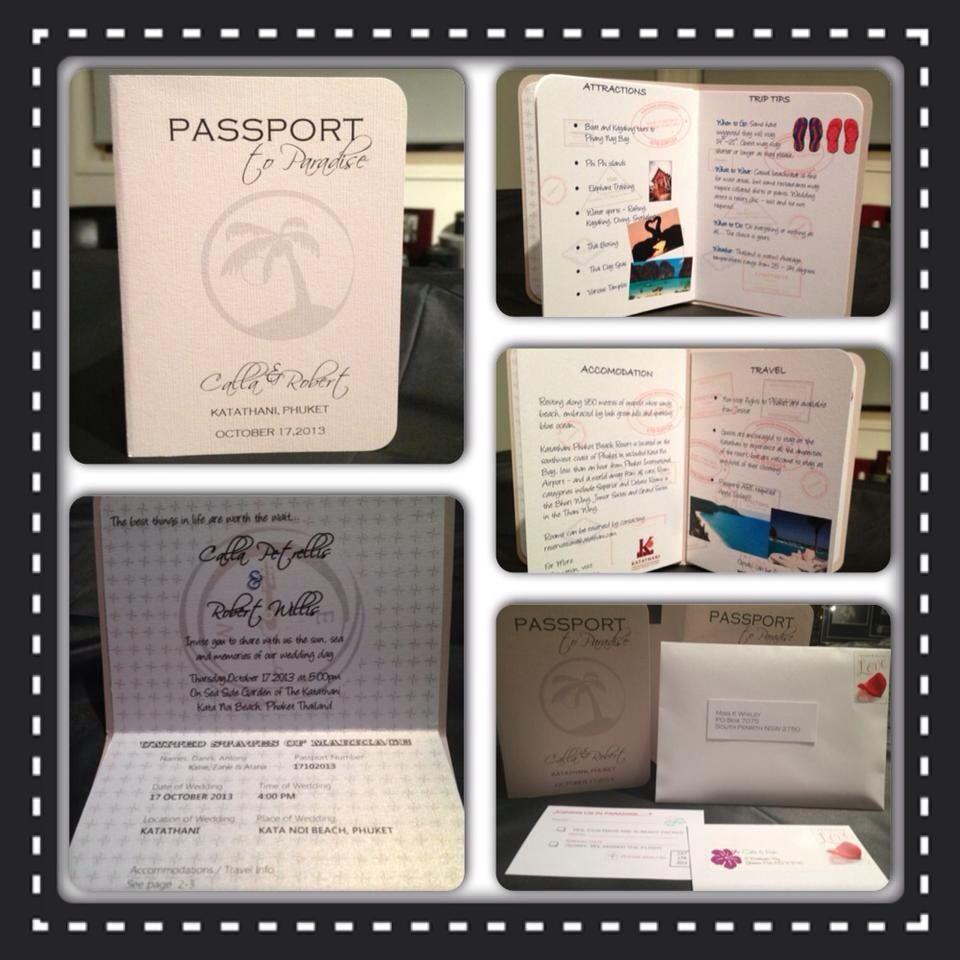 My diy passport wedding invitations with images