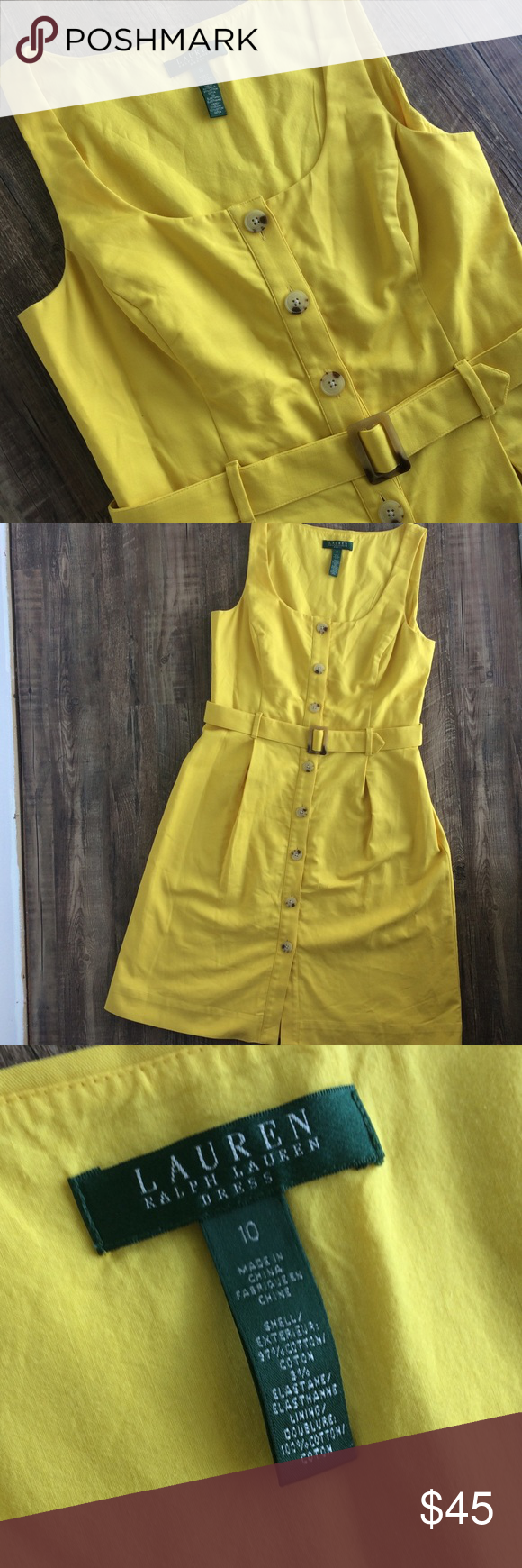 Robe jaune ralph lauren