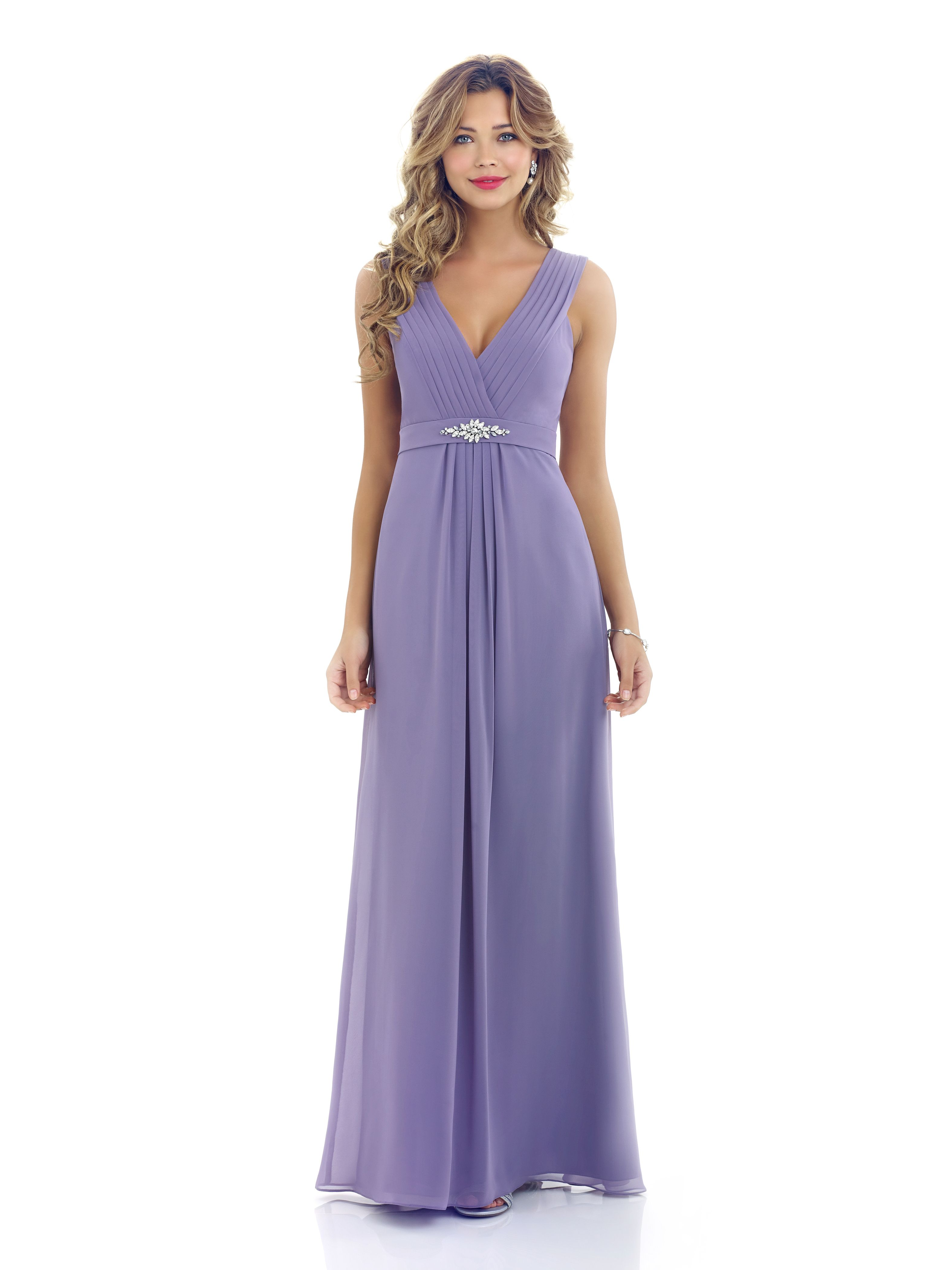 Alexia Style 4200 Long Chiffon Bridesmaid Dress