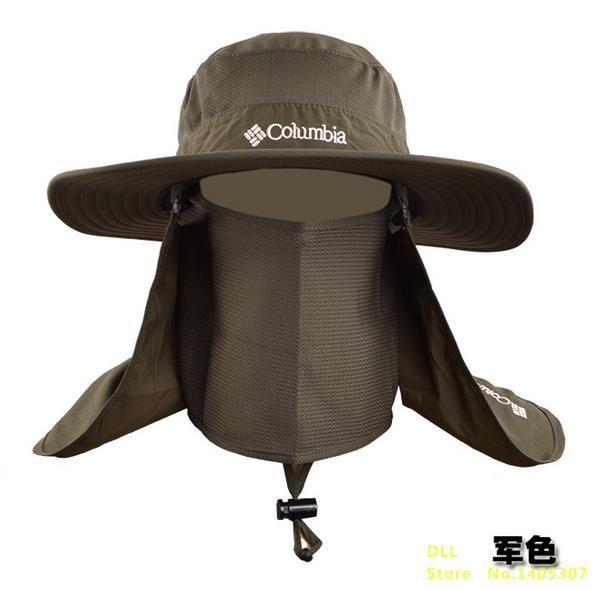 Outdoor Men Women Large Round Brim Sun Block Quick Drying Fishing Hats  Summer Sun Cap For Travel Mountain Climbing Bucket Hat 56df6e17820
