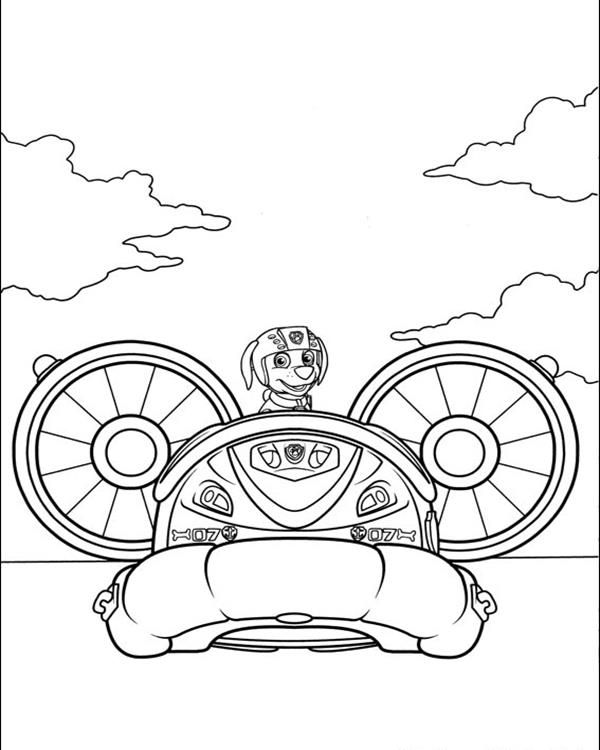 Paw Patrol Zuma Pilot A Plane Coloring Pages Printable And Book To Print For Free Find More Online Kids Adults Of