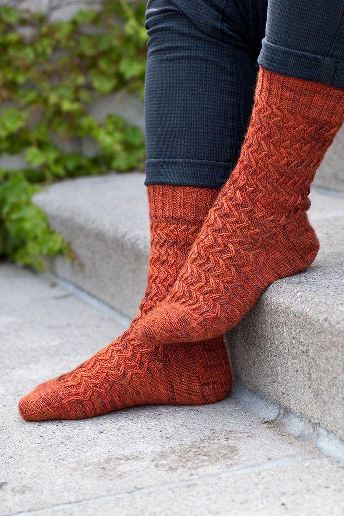 Wayfaring Stranger men\'s sock knitting pattern | socks | Pinterest ...