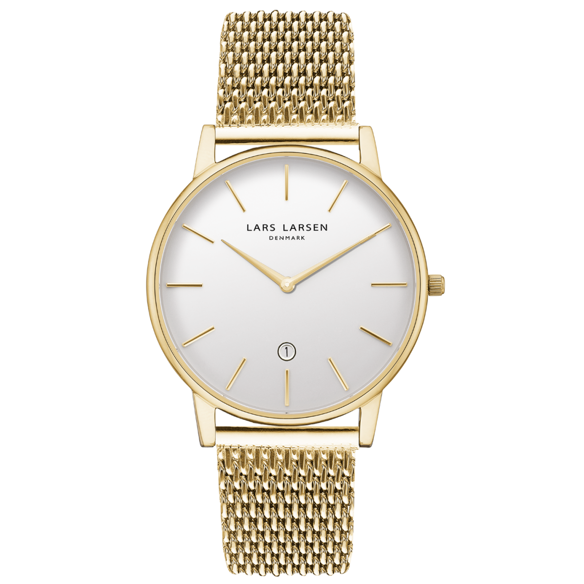 LW47 · Mens watch · Gold with date and bracelet