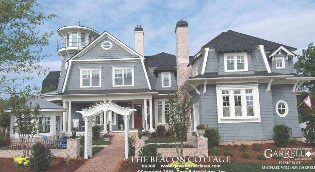 Beacon Cottage House Plan 06309 Front Elevation Coastal Style House Plans Tidewater Style Country Style House Plans Cottage House Plans Coastal House Plans
