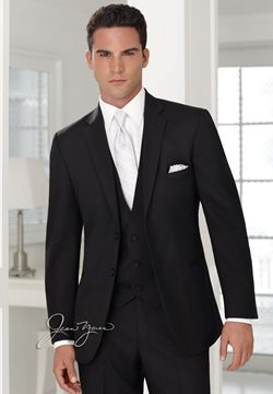 Suit, black shirt and white tie instead of tux?! (compromise ...