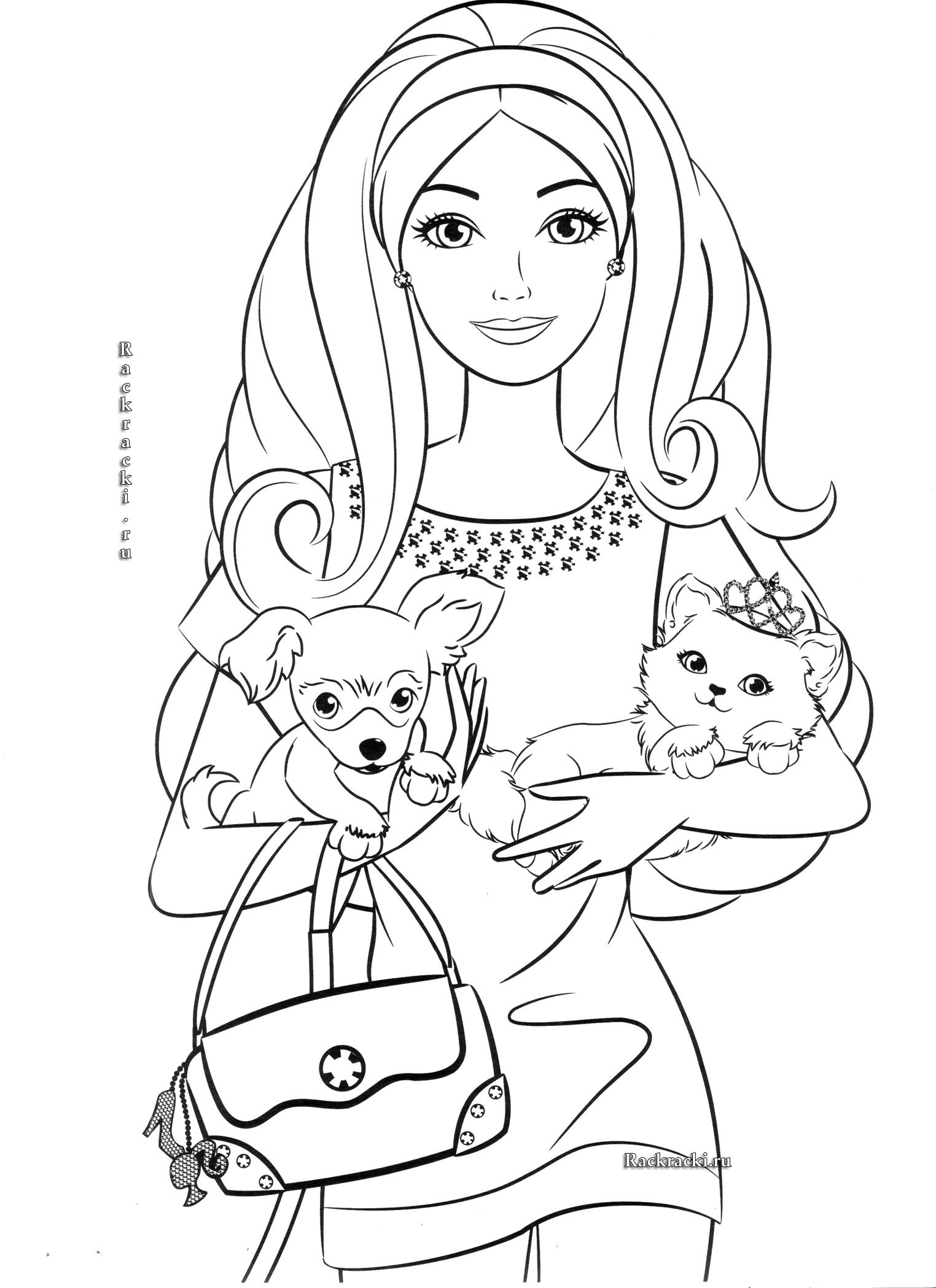 Soft image in free printable barbie coloring pages