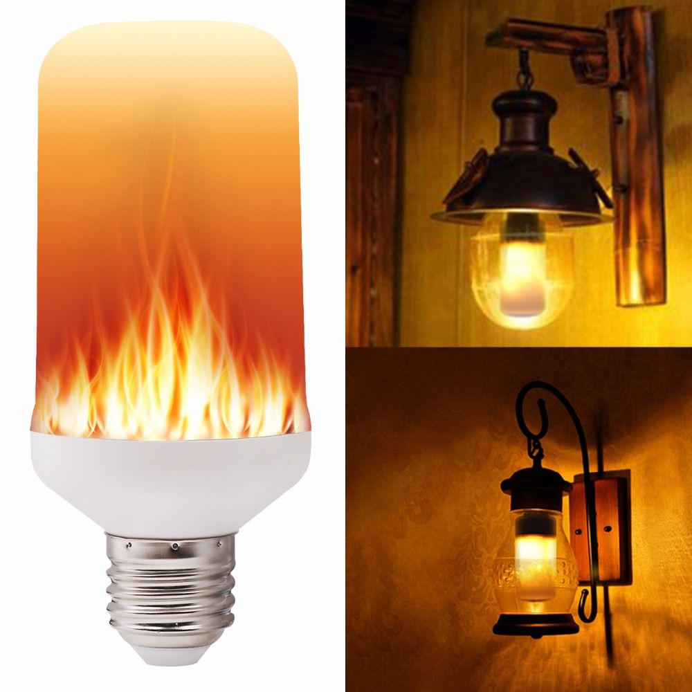 Led Flame Effect Fire Light Bulbs Creative Lights Flickering