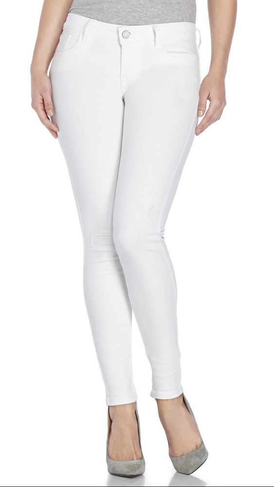 White super stretch skinny jeans