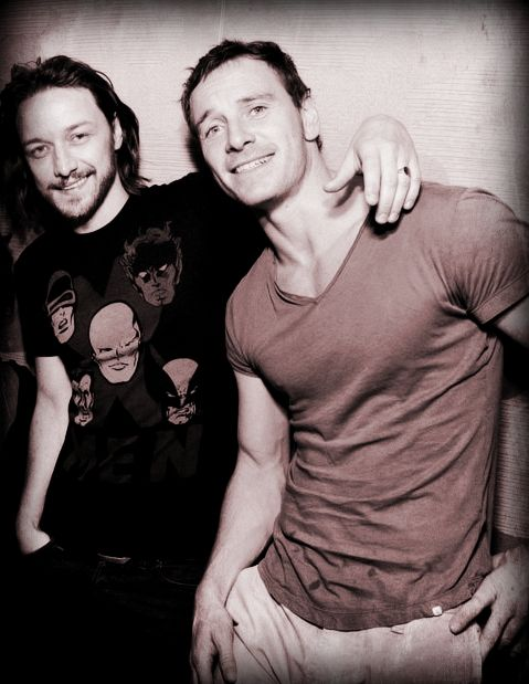 James McAvoy and Michael Fassbender at ComicCon 2013 the McBender bromance continues!