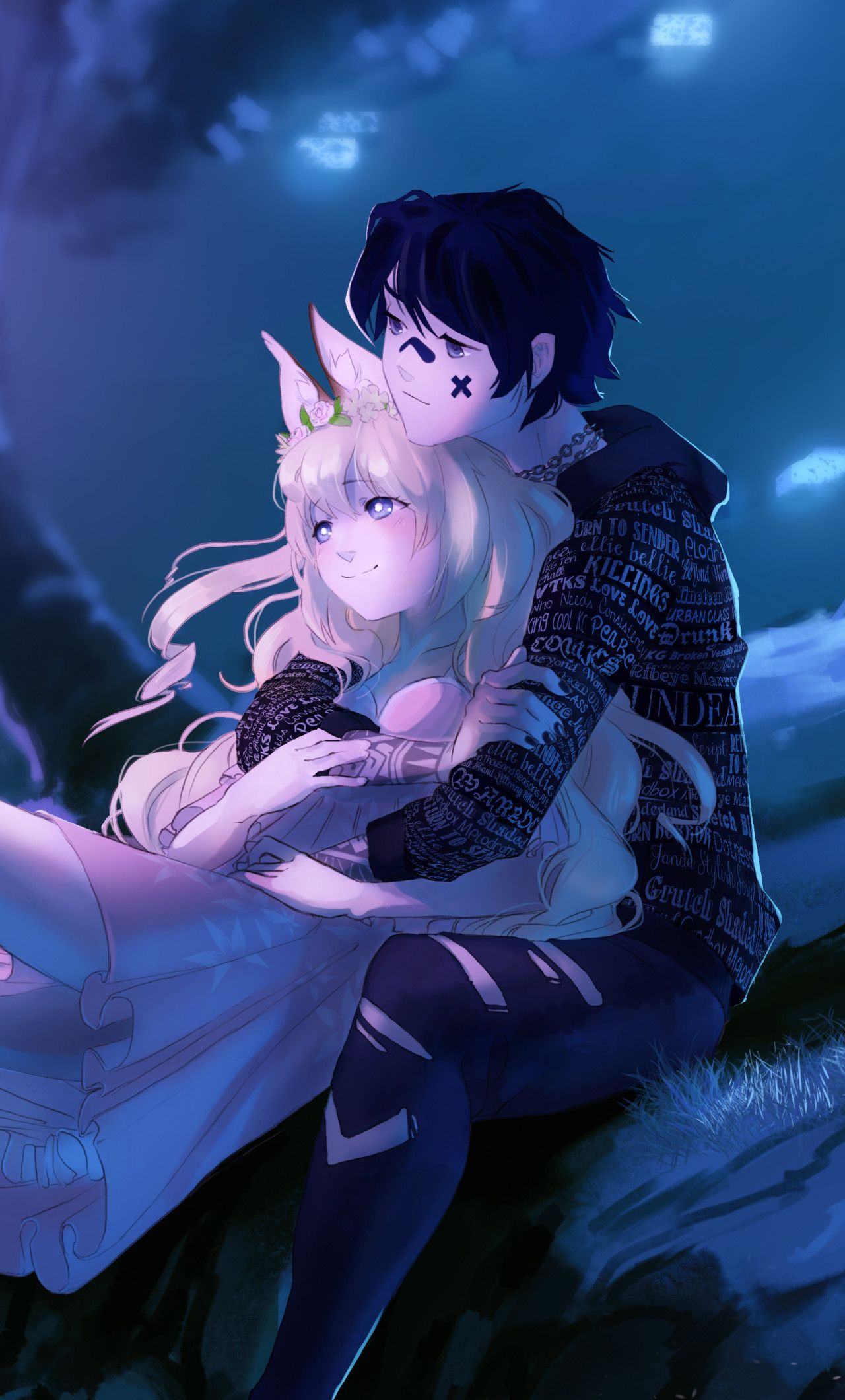 Anime Couple Wallpaper 4k 1280x2120 Embraced And Endeared Anime Couple 4k Iphone 6 Hd Anim Android Wallpaper Anime Hd Anime Wallpapers Anime Wallpaper Iphone Anime couple android wallpaper