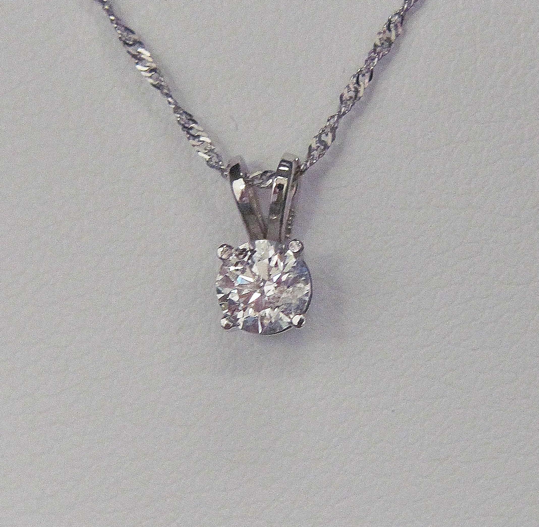 necklace p gold carat cut diamond jenny white brilliant weight packham total