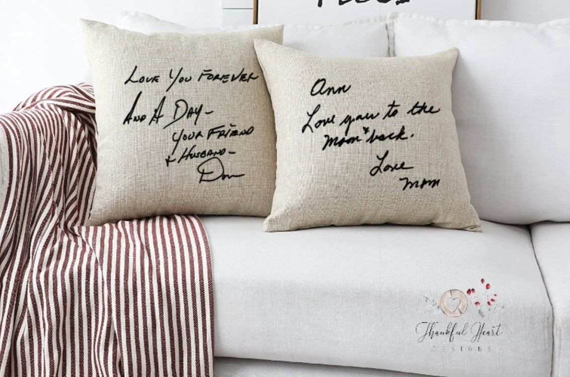 Handwriting Pillow, Memory Pillow