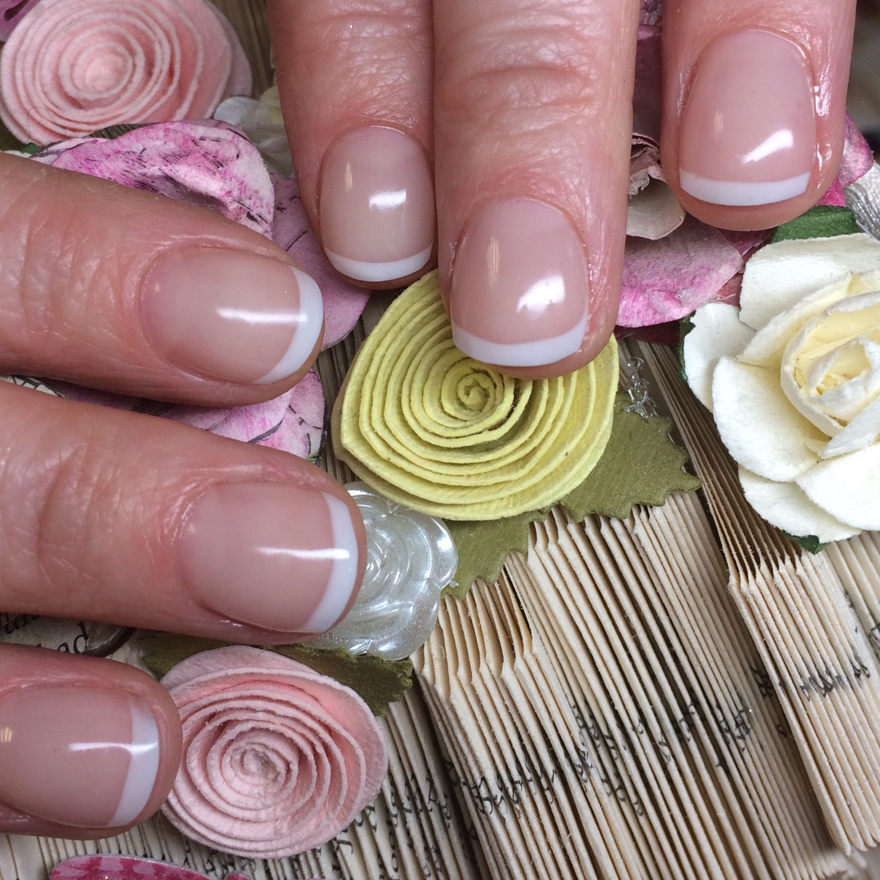 Gelish Polygel In Light Pink And Soft White From Nailharmonyuk Gelish Nail Artist Beauty Therapist Nails