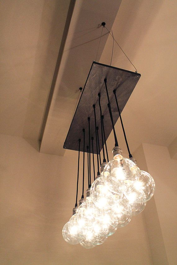 urban chic chandelier with exposed bulbs kitchen lighting modern rh pinterest co uk Black and White Wiring Standard Home Wiring White Black