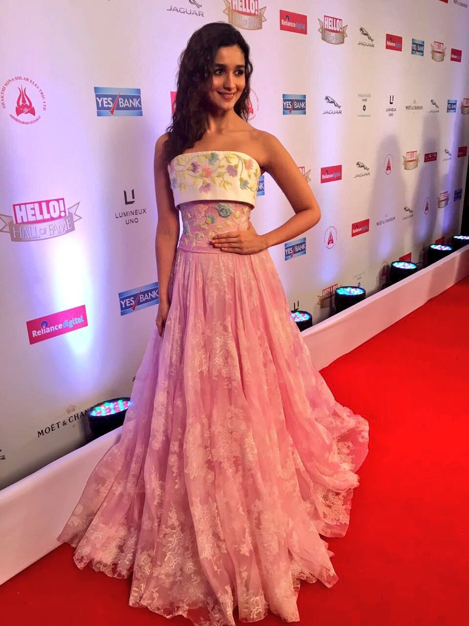 Alia Bhatt at the Hello Hall of Fame 2017 Awards | Designer gowns n ...