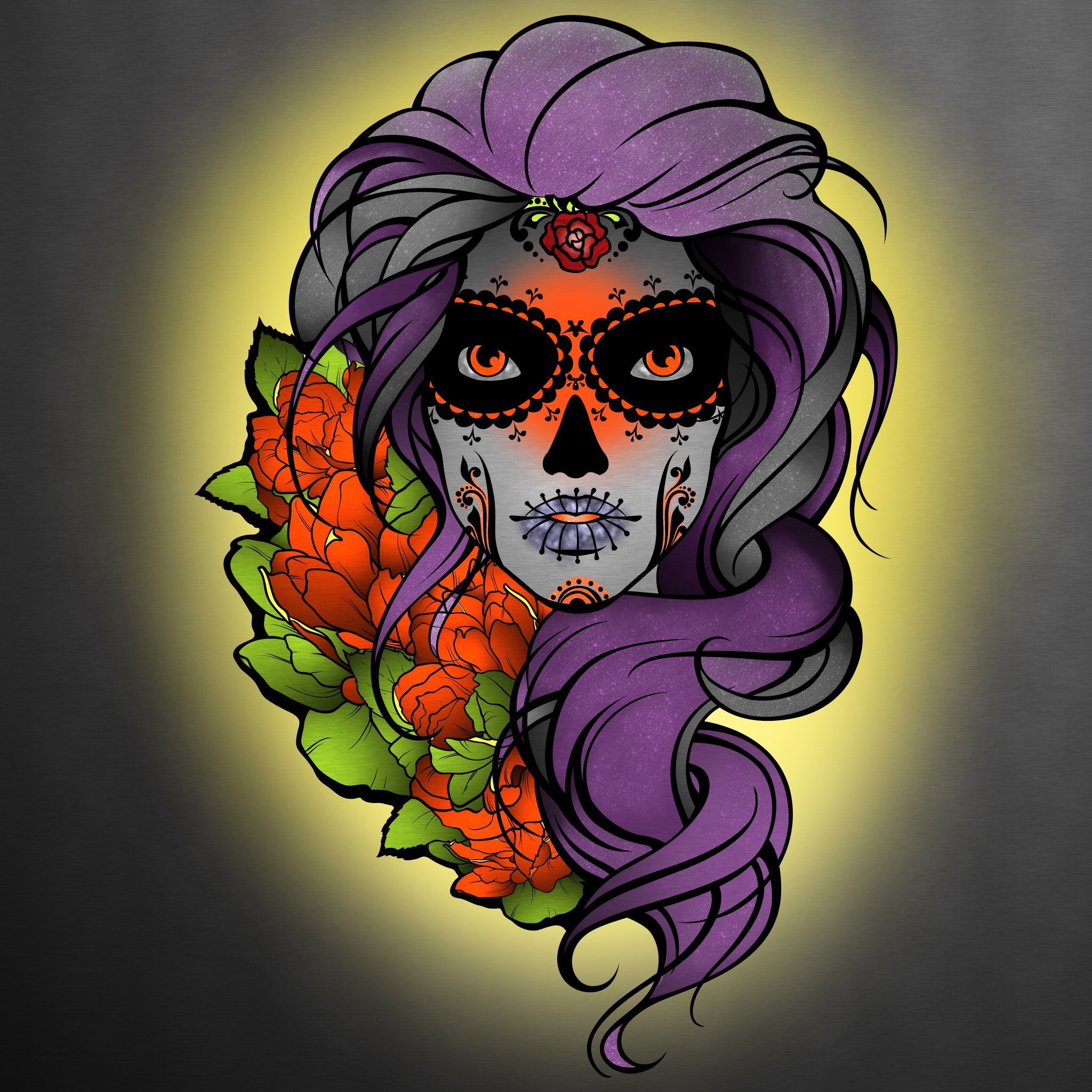 Another great page from our Day of the Dead coloring book Colored by ...