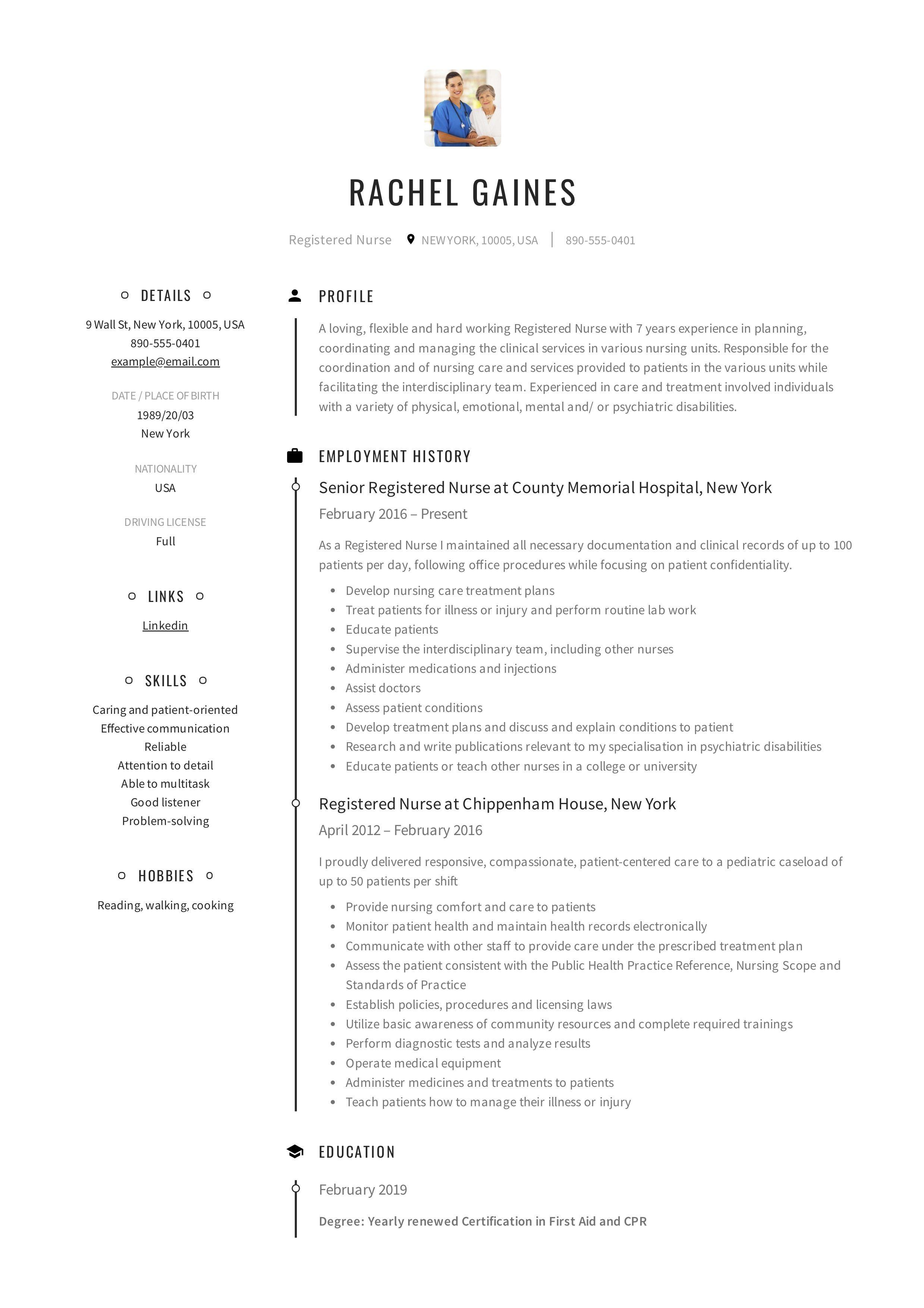 Skills For Resume Nursing