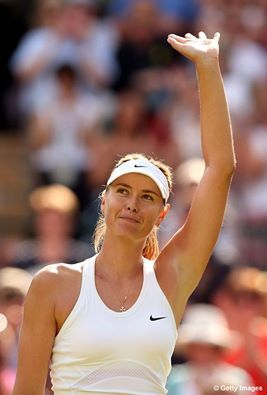 Maria Sharapova cruises into 3R of Wimbledon with a 62 61 win over Bacsinszky. Sharapova's 40th career Wimbledon victory.