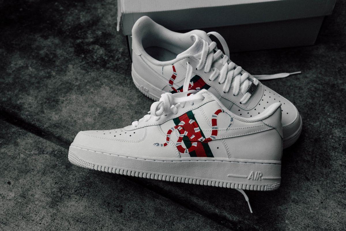 Nike af1 gucci custom | Kicks shoes