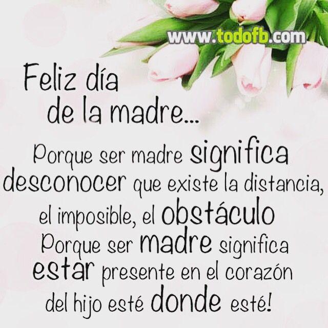 Feliz Día De La Madre España Dia Madre Frases Feliz Día