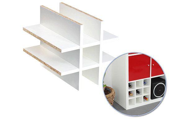 Ikea kallax expedit shelf insert for bottles up to cm