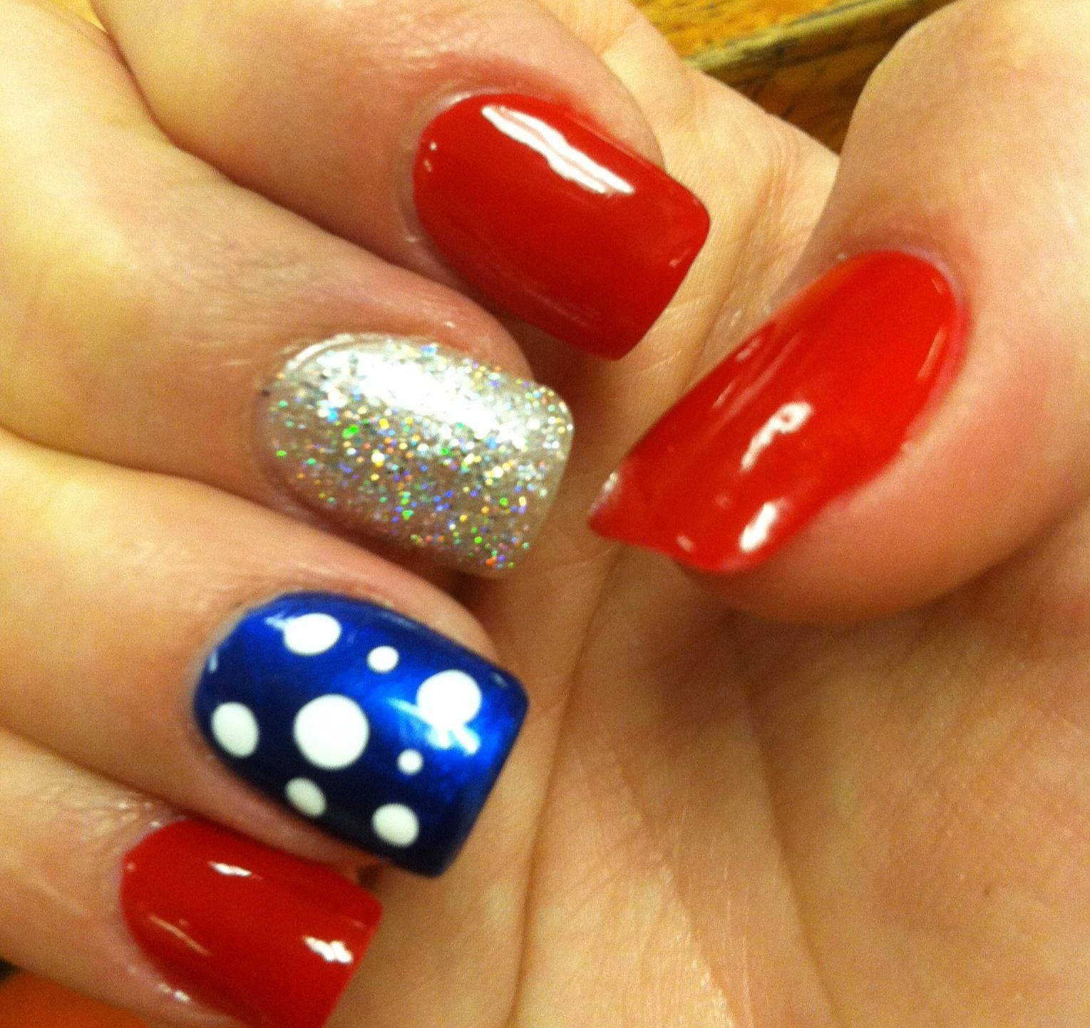 Pin By Heather Chapman On Nails Blue Gel Nails Red Nail Designs Painted Acrylic Nails