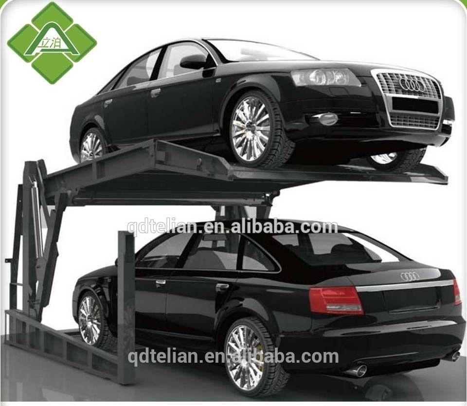 Low Height Designed Turntable Car Basement Tilt Car Parking Lift
