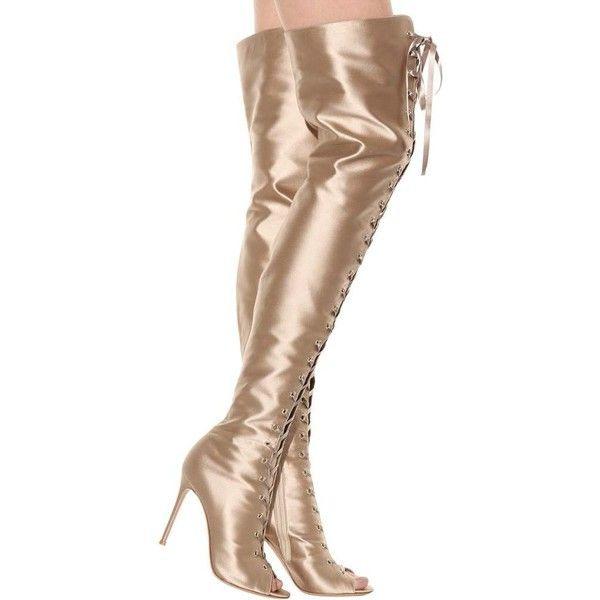 Gianvito Rossi Marie satin over-the-knee boots kzCU3bsn