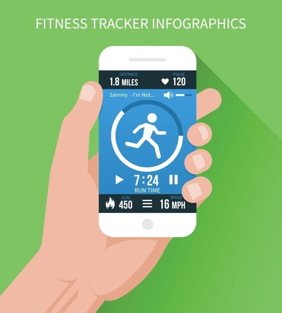 Fitness app on mobile phone in hand #features#mobile#lot#Fitness