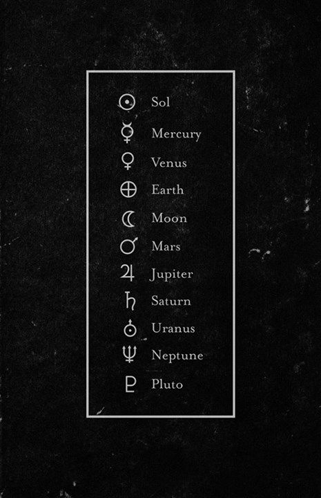 Planet Symbols Yeah Im One Of Those I Still Think Pluto Is