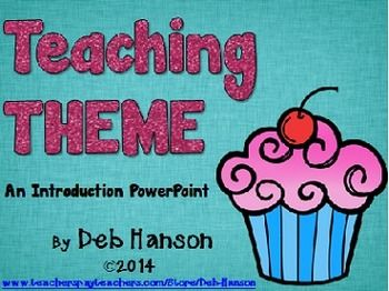 theme powerpoint lesson | teaching themes, kate dicamillo and school, Powerpoint templates
