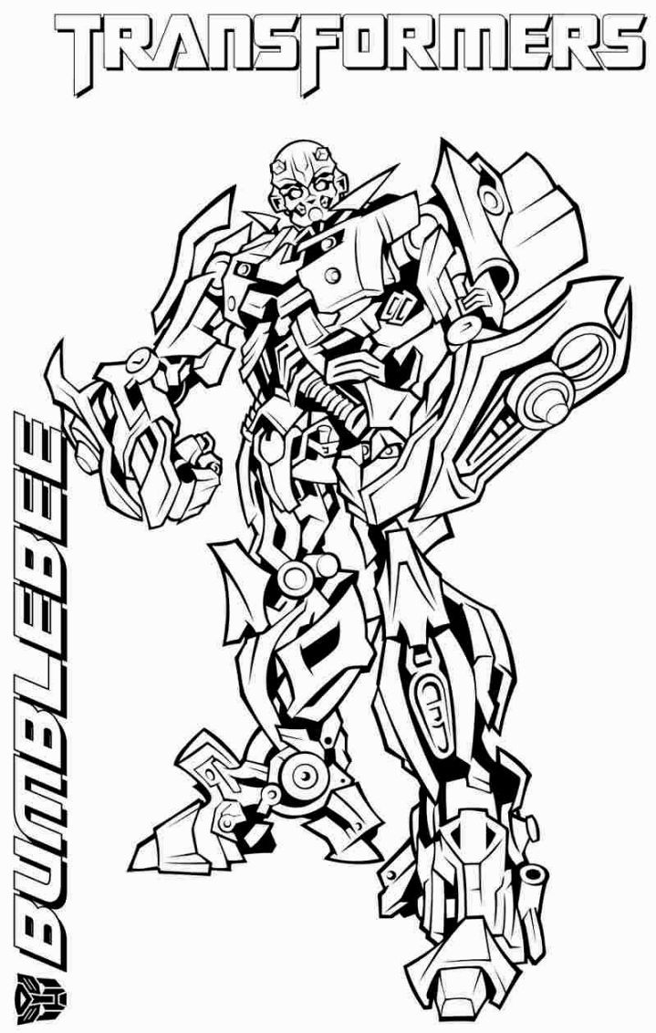 Transformers Coloring Pages Bumblebee With Images Bee Coloring
