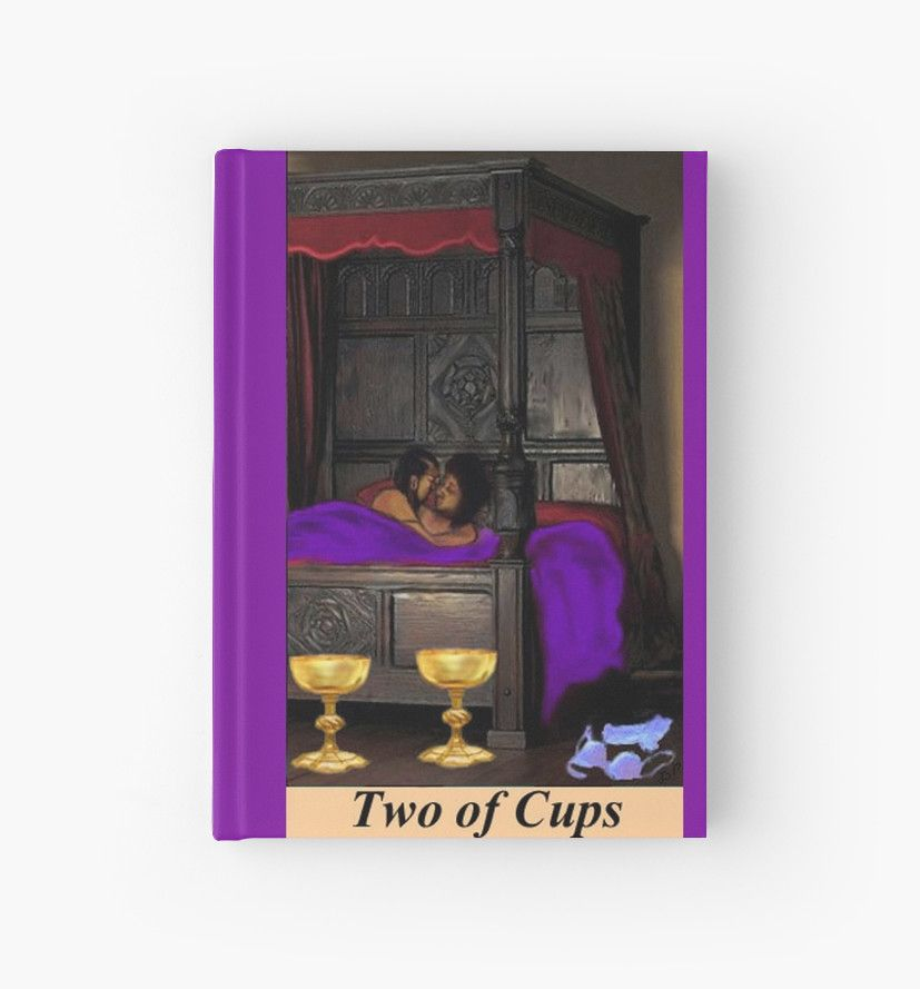 Two of Cups Tarot Card Journal. True Love ♡ • Also buy this artwork on stationery, apparel, stickers, and more. #TarotJournal #2ofCups